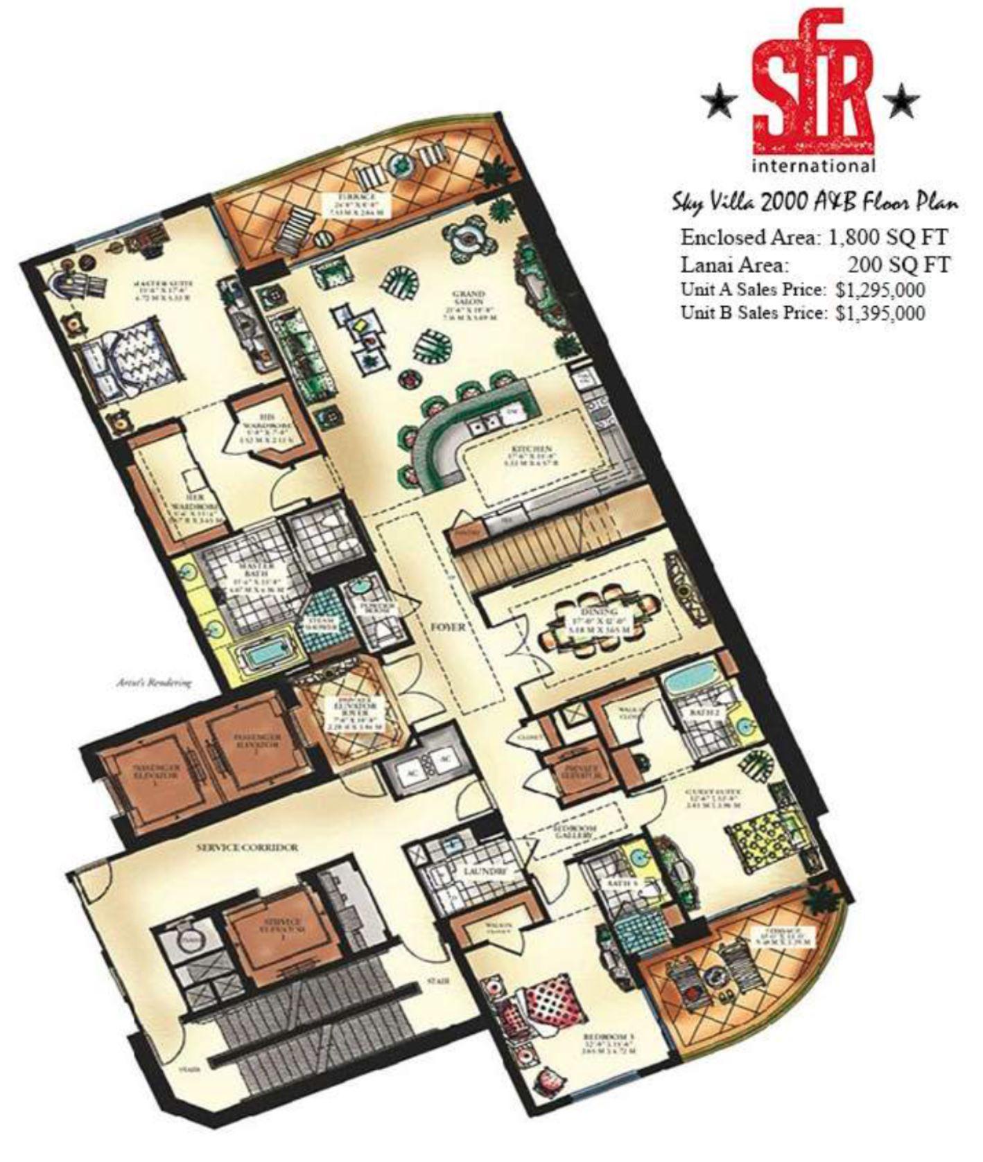 condo floor plans 2000 square feet